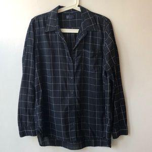 Gap windowpane button down shirt